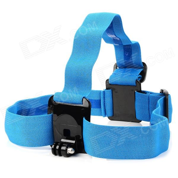 TMC HR37 PC + Nylon Head Fixing Band for Gopro Hero 4/ 2 / Hero 3 / 3+ -  Blue pannovo waterproof pu leather extra thick anti shock eva case for gopro hero 4 3 3 2 sj4000