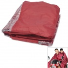 HQS-G101279 Outdoor Motorcycle Polyester PVC Dual People Waterproof Raincoat - Deep Wine (XXXL)