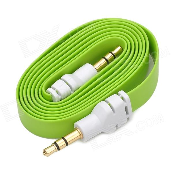 Universal Male to Male 3.5mm Audion Flat cable / Extension Cable - Green + White (93cm)