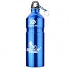 KUGAI Aluminum Alloy Water Bottle w/ Carabiner - Blue (750ml)