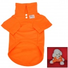 Cotton POLO T Shirt Clothes for Pet Dog - Orange (Size M)