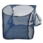 Folding Laundry Basket Hanging Clothing Storage Bag - Deep Blue