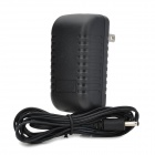HYK-30017S Universal 3.5mm Round Connector to US Plug Power Adapter for Ipad / Tablet PCs - Black