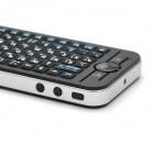 Ipazzport KP-810-16A Mini Wireless 78-Key Ruso Inglés + Keyboard w / Air Mouse - Negro + Plata