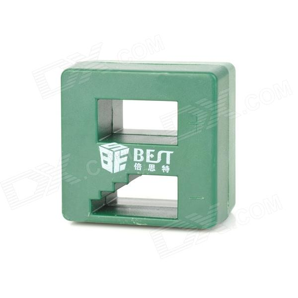 BEST BST-016 Magnetizer & Demagnetizer for Magnetizing Screwdrivers - Dark Green best price mgehr1212 2 slot cutter external grooving tool holder turning tool no insert hot sale brand new