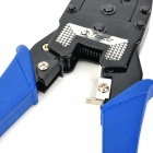 Tede TD-315 Modular Plug Crimper Pliers Tool w/ Cutter for 8P8C Network Cable - Black + Dark Blue
