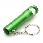 Multifunción de la aleación de aluminio Small 3-LED Flashlight / llavero / abridor de botellas - Green (3 x LR44)
