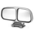 Universal Adjustable Angular Rear View Parking Mirror for Cars - Silver