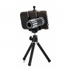 12X Telephoto Lens w/ Tripod / Back Case for Samsung Galaxy S4 i9500 - Black + Silver
