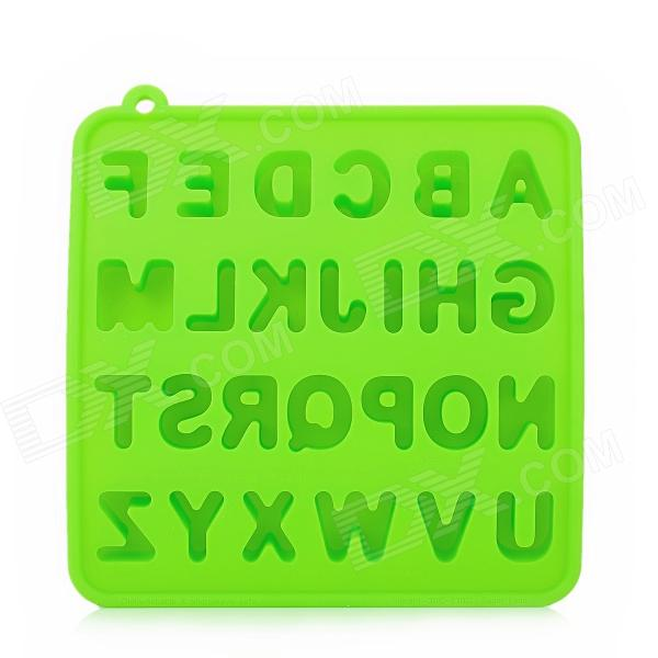 GEL0425 Silicone English Letters Style Ice Cubes Trays Maker DIY Mould - Green silicone skeleton shaped ice cubes trays maker diy mould random color