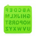 GEL0425 Silicone English Letters Style Ice Cubes Trays Maker DIY Mould - Green