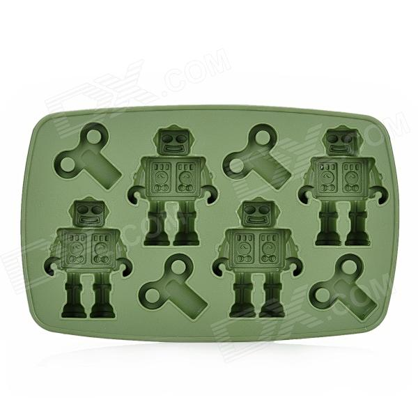 L.H.S TM13008 Silicone Robot Style Ice Cubes Trays Maker DIY Mould - Deep Green silicone skeleton shaped ice cubes trays maker diy mould random color