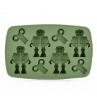 L.H.S TM13008 Silicone Robot Style Ice Cubes Trays Maker DIY Mould - Deep Green