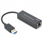 USB 3.0 10/100/1000Mbps Gigabit Ethernet LAN Network Adapter - Black