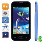 "Z7 Dual-Core Android 4.0 GSM Bar Phone w/ 4.0"" Capacitive Screen, Quad-Band and Wi-Fi - Blue"