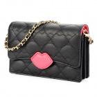 Fashion Sexy Lip Pattern Multifunction PU Leather Storage Bag for Iphone 5 / Samsung N7100