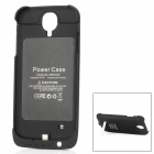 5V 3200mAh Lithium Polyemer Battery Pulling Plastic Back Case w/ Stand for Samsung S4 - Black