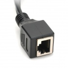 5V RJ45 macho a hembra RJ45 + DC Male Power Over Ethernet POE Adaptador de cable - Negro ( 20cm )