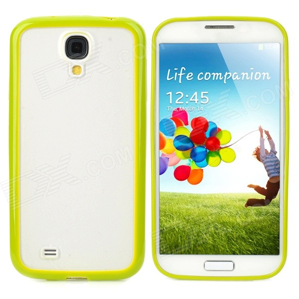 купить Protective TPU + PC Back Case for Samsung Galaxy S4 i9500 - Grass Green + Translucent White недорого