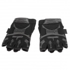 Free Soldier F-Pact Outdoor Tactical Cycling Half-Fingers Nylon Gloves - Black (Size L / Pair)