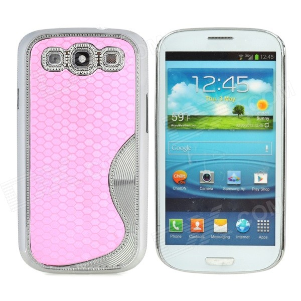 S Style Elegant Protective Plastic Plating Back Case for Samsung Galaxy S3 i9300 - Pink + Silver чехол для для мобильных телефонов leather for samsung galaxy note 4 n910 4 samsung n910 pu samsung 4 note4 stcsamnt4lea001