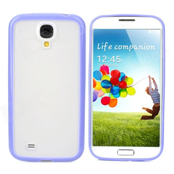купить Protective TPU + PC Back Case for Samsung Galaxy S4 i9500 - Light Purple + Translucent White недорого