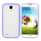 Protective TPU + PC Back Case for Samsung Galaxy S4 i9500 - Light Purple + Translucent White