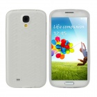 """W"" Grain Style Protective PVC Back Case for Samsung Galaxy S4 i9500 - Translucent White"