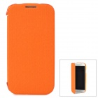 Ultrathin Protective PU Leather Case for Samsung Galaxy S4 i9500 - Orange + Translucent Orange