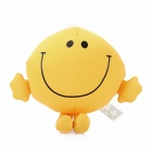 "4.5"" Smiling Face Style Foam Particles Doll Toy w/ Suction Cup - Yellow"