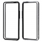 Protective Plastic Bumper Frame for HTC One M7 - Black + Transparent