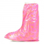 Fashion Motorcycle Bicycle Cycling Lady's Waterproof Rain Boot Shoe Covers - Pink (Size 37 / Pair)