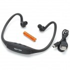Cool Sport MP3 Player / Headphone w/ TF Card Slot / Mini USB - Black (1 x AAA)