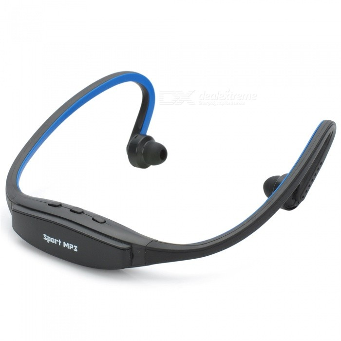 Cool Sport MP3 Player / Headphone com slot para cartão TF - Preto + Azul