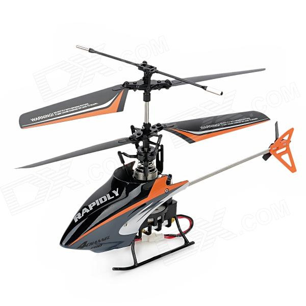 MingJi 301C 4-CH IR Remote Control Helicopter w/ Gyroscope - Orange + Black + Grey