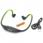 Cool Sport MP3 Player / Headphone w/ TF Card Slot / Mini USB - Fluorescent Green + Black (1 x AAA)
