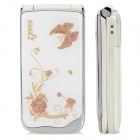 "Z222 GSM Flip Phone w/ 2.2"" LCD, Dual-band, Dual-SIM and FM - White + Golden + Pink"