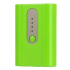 "5V ""5200mAh"" Portable External Battery Power Bank for iPhone / Samsung + More - Grass Green + Black"