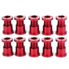 Venzo VZ-B14-001A 7075 Aluminum Alloy Chain Ring Screw for Mountain Bike - Claret (10 PCS)