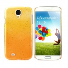 Water Drop Style Protective Plastic Back Case for Samsung Galaxy S4 i9500 - Yellow + Orange
