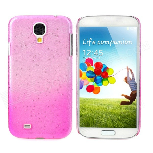 Water Drop Style Ultrathin Protective Plastic Back Case for Samsung Galaxy S4 i9500 - Pink water drop style protective plastic back case for samsung galaxy s4 i9500 yellow orange