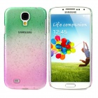Water Drop Style Ultrathin Protective Plastic Case for Samsung Galaxy S4 i9500 - Green + Purple Pink