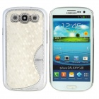 """S"" Style Elegant Protective Plastic Plating Back Case for Samsung Galaxy S3 i9300 - White + Silver"