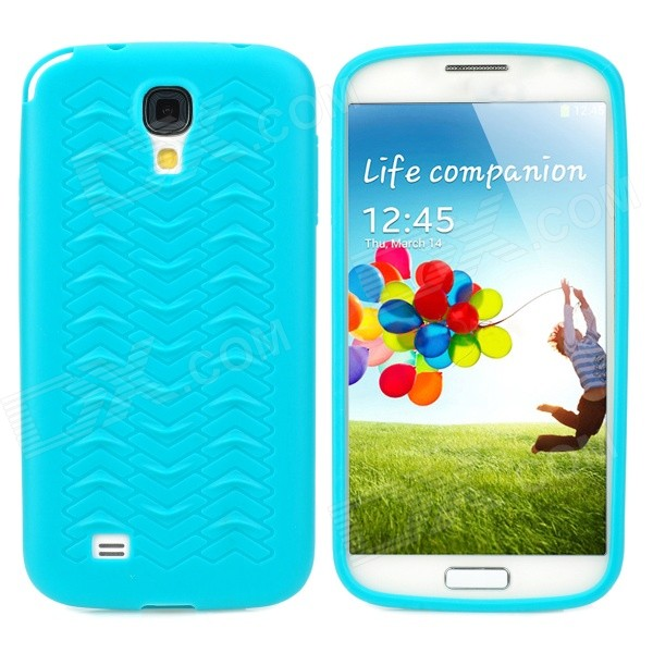 W Grain Style Protective PVC Back Case for Samsung Galaxy S4 i9500 - Blue protective cute spots pattern back case for samsung galaxy s4 i9500 multicolored