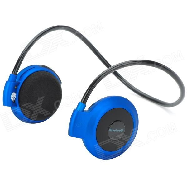 Mini-503 Bluetooth V2.1+ EDR Stereo Behind-the-Neck Headphone - Black + Blue