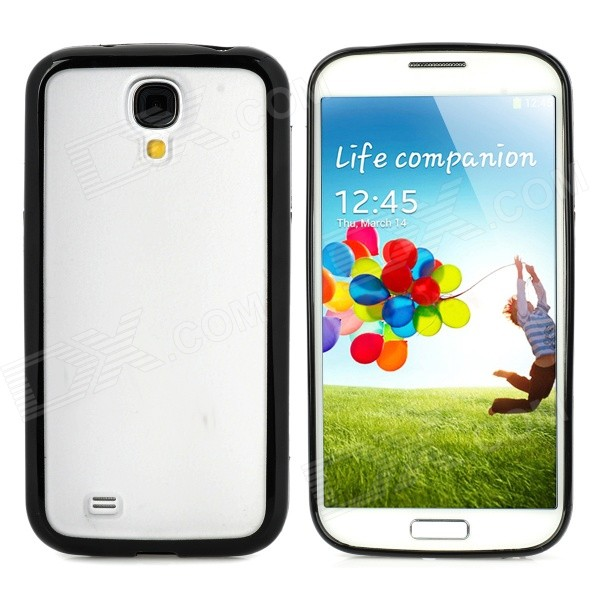 Protective TPU + PC Back Case for Samsung Galaxy S4 i9500 - Black + Translucent White 2 in 1 detachable protective tpu pc back case cover for samsung galaxy note 4 black
