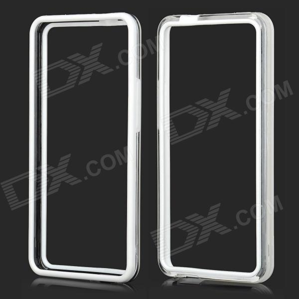 все цены на Protective Plastic Bumper Frame for HTC One M7 - White + Transparent онлайн