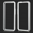 Protective Plastic Bumper Frame for HTC One M7 - White + Transparent