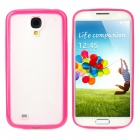 Protective TPU + PC Back Case for Samsung Galaxy S4 i9500 - Deep Pink + Translucent White