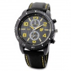 QF A1479 Men's Stylish Car Dial Style Analogue Quartz Wrist Watch w/ Silicone Band - Black (1 x AG3)